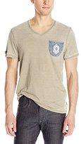 Buffalo David Bitton Men's Nanoute Short Sleeve V-Neck Fashion Knit Shirt
