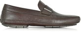 Moreschi Miami Dark Brown Deerskin Driver Shoe w/Rubber Sole