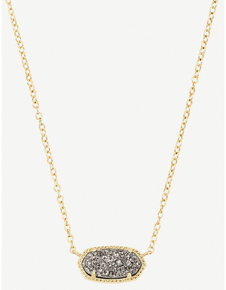 Kendra Scott Elisa 14ct gold-plated and platinum druzy necklace