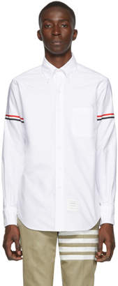 Thom Browne White Classic Point Collar Armband Shirt