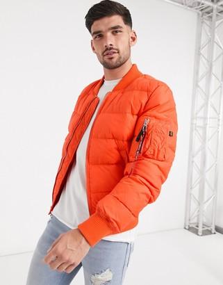 Alpha Industries nylon taffeta jacket in flame orange