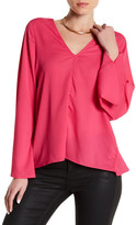 Lucca Couture Long Sleeve Low Back Blouse