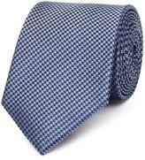 Reiss Reiss Ida - Silk Houndstooth Tie In Blue