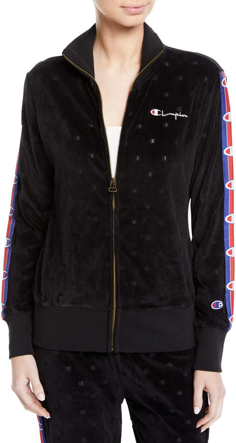 9e27b5816 Champion Europe Reverse Weave Velour Burnout Logo Track Jacket