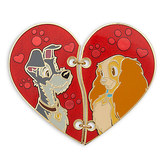 Disney Lady and the Tramp ''Broken Heart'' Pin Set