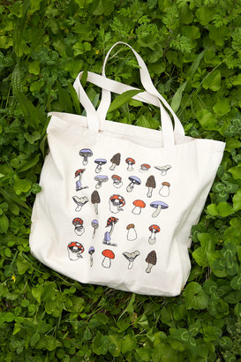 Urban Outfitters Mushrooms Graphic Tote Bag
