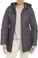 Laundry by Design Hooded Melange Quilted Jacket