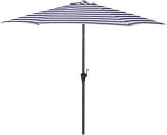 John Lewis & Partners 2.7m Striped Parasol, Navy