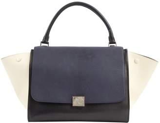Celine Trapeze Navy Leather Handbags