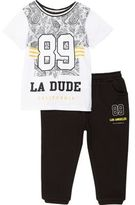 River Island Mini boys 89 shirt and jogger set