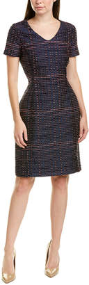Oscar de la Renta Silk-Blend A-Line Dress
