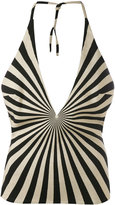 Gareth Pugh geometric printed halter top - women - Viscose/Polyester/Virgin Wool/Silk - 42