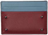 Valentino Garavani Valentino Red and Blue Small Rockstud Card Holder