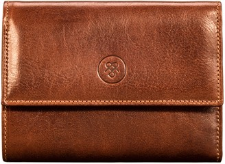 Maxwell Scott Bags Womens Tan Leather Wallet