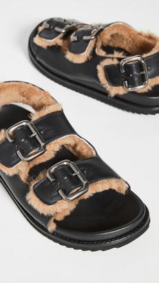 Freda Salvador Piper Shearling Sandals