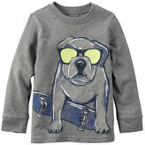 Carter's Long-Sleeve Dog Graphic Tee