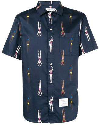 Thom Browne swimmer print shirt