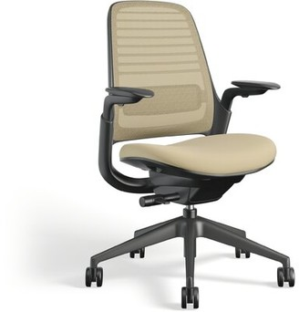Steelcase Series 1 Ergonomic Mesh Task Chair Frame Color: Black, Upholstery Color: Malt