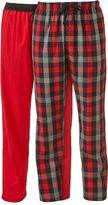 Hanes Men's 2-pk. Plaid & Solid Knit Lounge Pants
