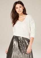 Bebe V-Neck Pullover Sweater