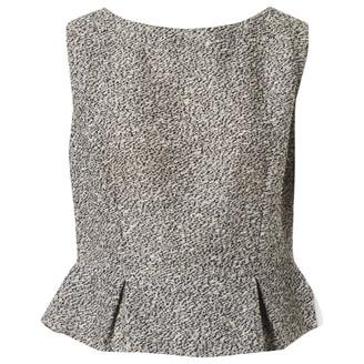 Christian Dior Black Tweed Tops