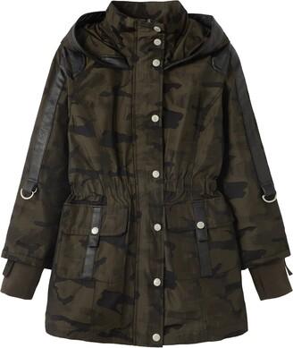 Habitual Kids' Delilah Camo Print Hooded Rain Jacket