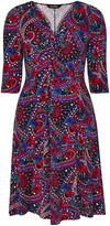 Evans **Scarlett & Jo Multi Colour Paisley Print Fit and Flare Dress