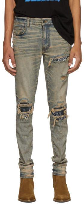 Amiri Indigo Bandana MX1 Jeans