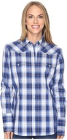 Roper 0555 Blue River Plaid Women's Clothing