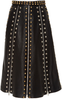 Rodarte Stud Embellished Paneled Skirt