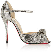 Christian Louboutin Women's Marchavekel Leather Sandals-GOLD