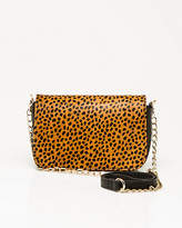 Le Château Leopard Print Pony Hair Crossbody Bag