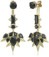 Noir Blizzard Gold and Black Drop Earrings