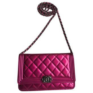Chanel Boy Pink Patent leather Clutch bags