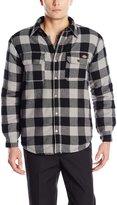 Dickies Men's Sherpa Lined Plaid Shirt Jacket