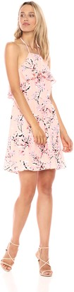 Cupcakes And Cashmere Women's Corralyn Floral Print Ruffle Dress