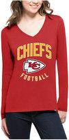 '47 Women's Kansas City Chiefs Splitter Arch Long-Sleeve T-Shirt