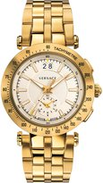 Versace Men's 'V-Race' Swiss Quartz Stainless Steel Automatic Watch, Color:Gold-Toned (Model: VAH030016)