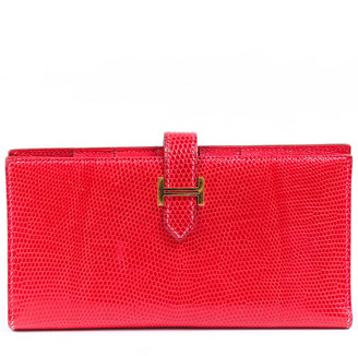 Hermes Red Bougainvillea Lizard Leather Gusset