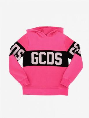 GCDS Sweatshirt With Hood And Logo