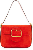 Tory Burch Sawyer Suede Shoulder Bag, Red