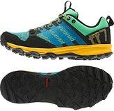 adidas Womens Performance Kanadia 7 TR Trail Running Sneaker Shoe, Green Glow/Solar Blue/Solar Gold, 8