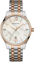 Bulova Women's Diamonds Two-Tone Bracelet Watch