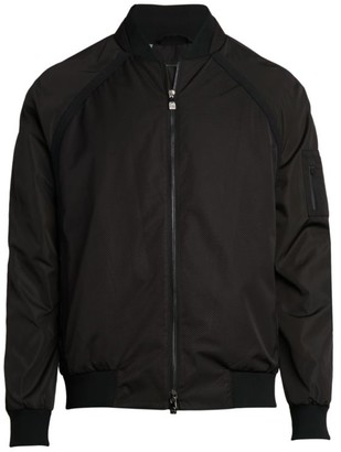 Corneliani Zip-Pocket Sleeve Bomber Jacket
