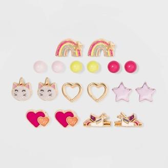 Cat & Jack Girls' 9pk Unicorn Earrings - Cat & JackTM