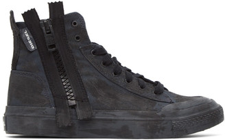 Diesel Black S-Astico Zip Sneakers