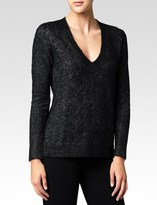 Paige Dominique Sweater - Black Metallic