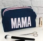 Love Lammie & Co Large Denim Make Up Bag 'Mama' Print