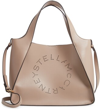 Stella McCartney Perforated Logo Faux Leather Satchel