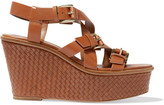 Michael Kors Leather woven wedge sandals